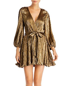 Bardot - Bellissa Metallic Plissé Dress