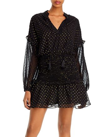 AQUA - Metallic Clip Dot Mini Dress - 100% Exclusive