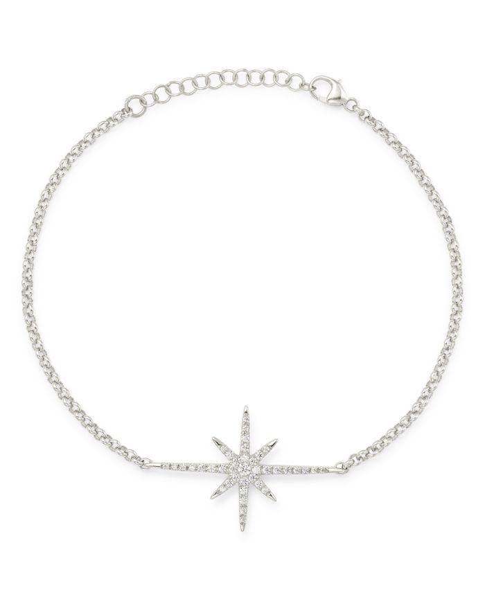 Bloomingdale's Diamond Starburst Bracelet in 14K White Gold, 0.15 ct. t.w. - 100% Exclusive  | Bloomingdale's