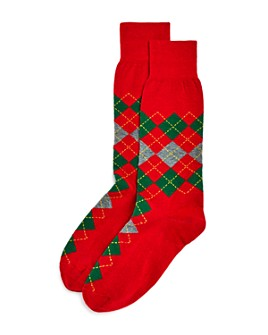 The Men's Store at Bloomingdale's - Holiday Argyle Socks - 100% Exclusive