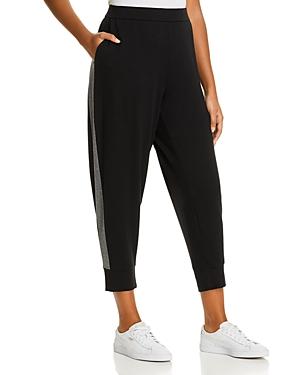Eileen Fisher Plus Track-Stripe Jogger Pants