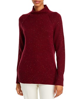 Theory - Karinella Cashmere Donegal Knit Turtleneck