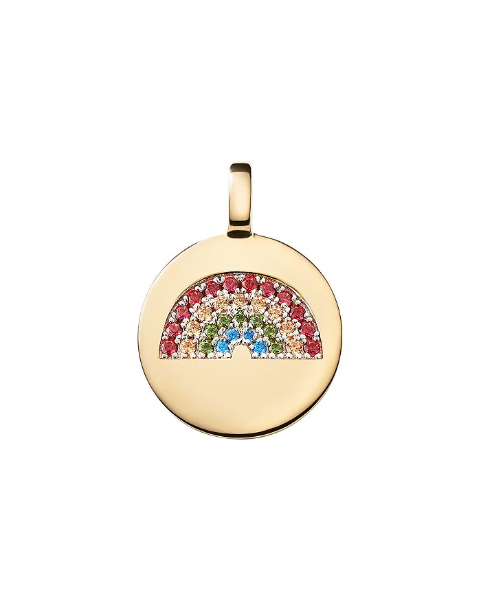 CHARMBAR - Reversible Rainbow Charm in Sterling Silver or 14K Gold-Plated Sterling Silver
