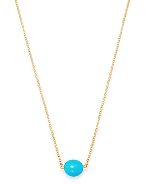 Bloomingdale's Turquoise Station Necklace in 14K Yellow Gold, 18 - 100% Exclusive