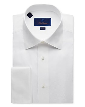 David Donahue - Jacquard Trim Fit Tuxedo Shirt