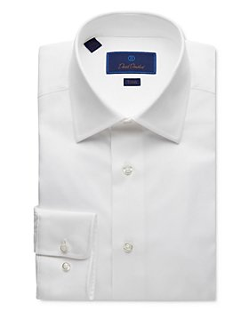 David Donahue - Solid Trim Fit Dress Shirt