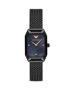 Armani Collezioni  RECTANGULAR WATCH, 24MM X 35MM