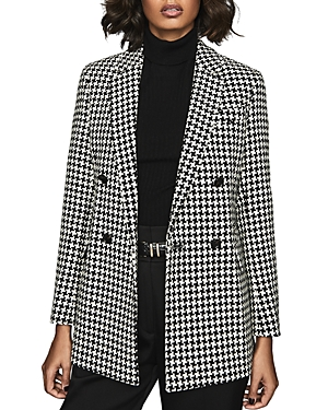 Reiss Blazers ROSE SLIM-FIT HOUNDSTOOTH BLAZER