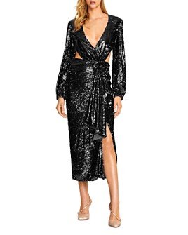 Alice McCall - Electric Orchid Cutout Sequin Gown