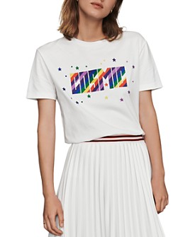 Maje - Terence Cosmic Embroidered Graphic Tee