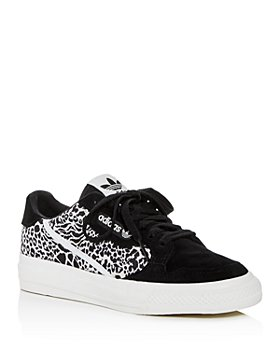 Adidas - Women's Continental  Leopard-Print Low-Top Sneakers