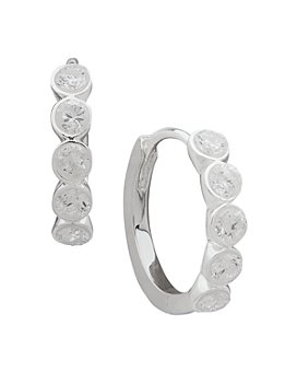 Ralph Lauren - Faceted Stone Huggie Hoop Earrings