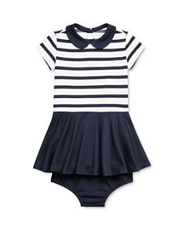 Ralph Lauren - Girls' Striped Ponte Dress & Bloomers Set - Baby