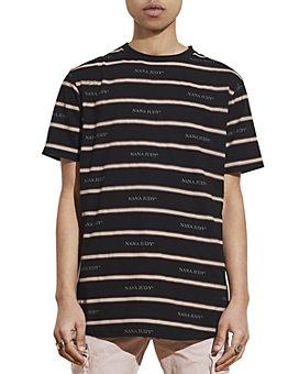 nANA jUDY - Riviera Striped Logo Tee