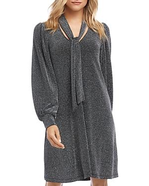 Karen Kane Dresses TAYLOR METALLIC TIE-NECK DRESS
