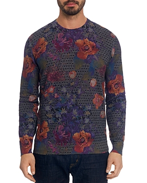 Robert Graham Hawkeye Geo-Floral Pullover Sweater-Men