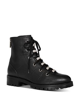 Jimmy Choo - Women's Bren Crystal-Embellished Hiker Boots