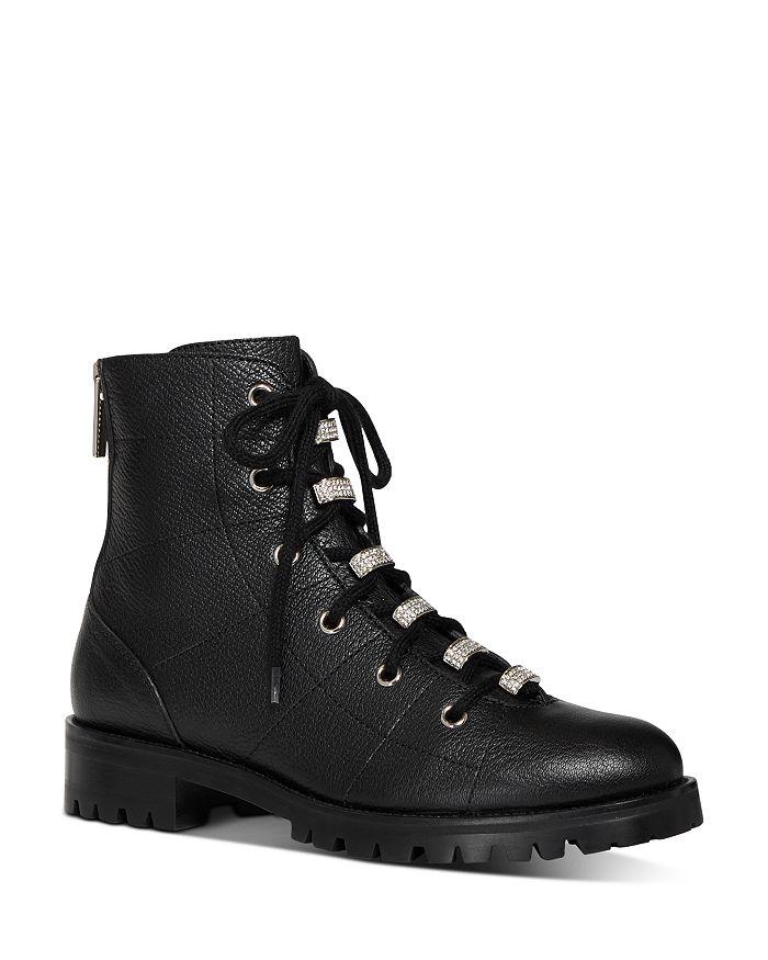 Jimmy Choo - Women's Bren Crystal-Embellished Hiker Boots