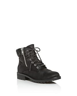 STEVE MADDEN - Girls' JBarrel Combat Boots - Little Kid, Big Kid