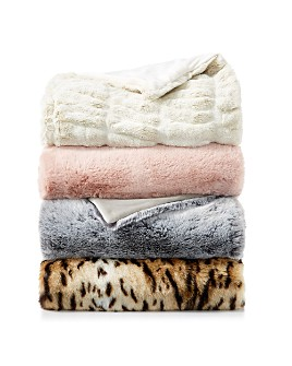 Hudson Park Collection - Faux Fur Throw Collection - 100% Exclusive