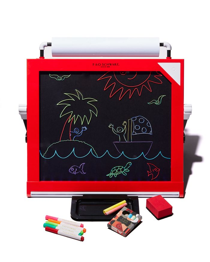 FAO Schwarz 3-in-1 Tabletop LED Art Easel - Ages 6+    Bloomingdale's
