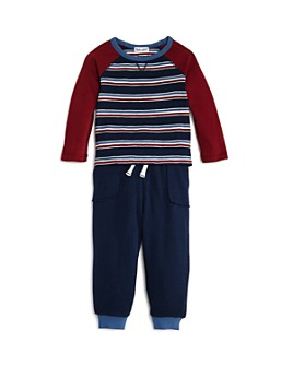 Splendid - Boys' Striped Tee & Jogger Pants Set - Baby