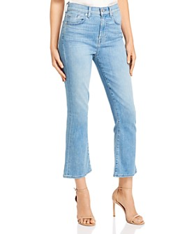 7 For All Mankind - Cropped Slim Kick Jeans in Alta Blue