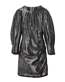 Maje - Ralery Striped Metallic Mini Dress