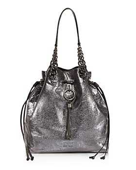 Jimmy Choo - Callie Large Metallic Bucket Bag