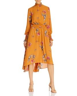 nanette Nanette Lepore - Floral Smocked High/Low Dress
