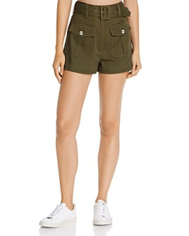Red Carter - High-Waist Cargo Shorts