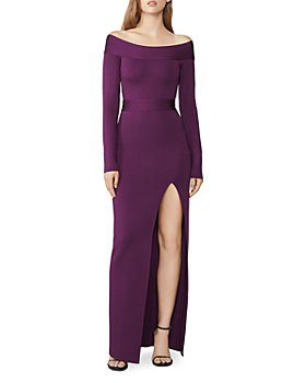 Hervé Léger - Long-Sleeve Off-the-Shoulder Gown