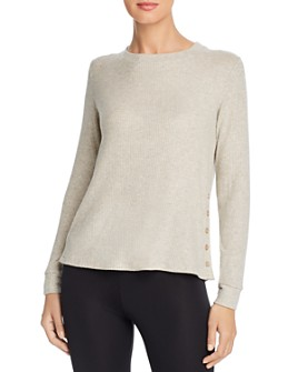 Beyond Yoga - Your Line Side-Button Top