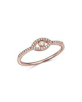 Bloomingdale's - Diamond Evil Eye Ring in 14K Rose Gold, 0.10 ct. t.w. - 100% Exclusive