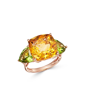 Bloomingdale's Citrine & Peridot Ring in 14K Rose Gold - 100% Exclusive