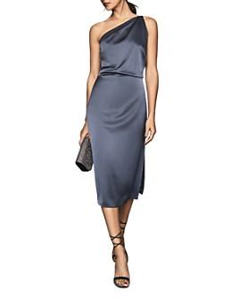 REISS - Eden One-Shoulder Satin Dress
