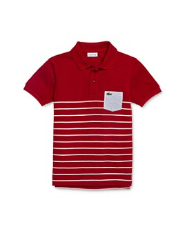 Lacoste - Boys' Contrast Pocket Polo Shirt - Little Kid, Big Kid