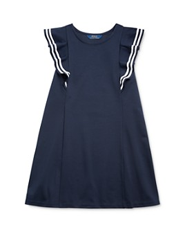 Ralph Lauren - Girls' Ruffled Ponte Dress - Little Kid