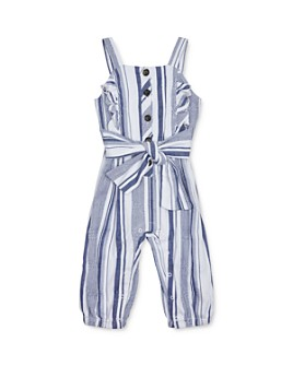 Habitual Kids - Girls' Palmer Striped Jumpsuit - Little Kid
