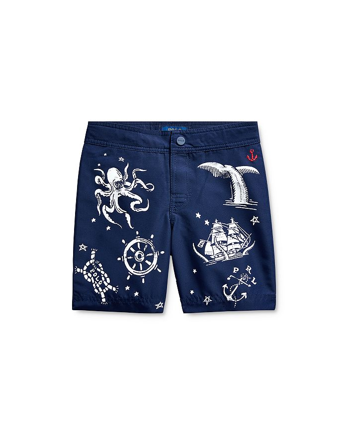 Ralph Lauren - Boys' Nautical Print Swim Trunks - Little Kid