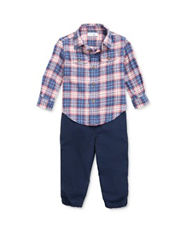 Ralph Lauren - Boys' Plaid Shirt & Jogger Pants Set - Baby