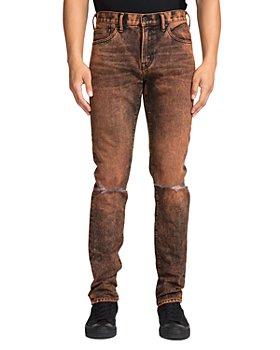 PRPS - Hurculese Tapered Slim Fit Jeans in Orange