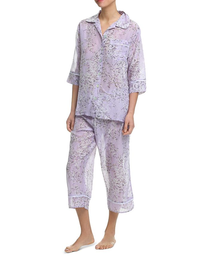 Papinelle - Cherry Blossom Cropped Pajama Set