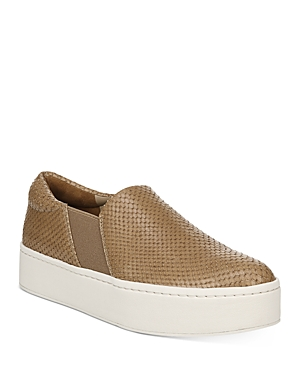 Vince Platforms WOMEN'S WARREN CROC-EMBOSSED PLATFORM SNEAKERS