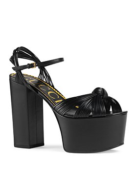 Gucci - Women's Leather Platform Sandals
