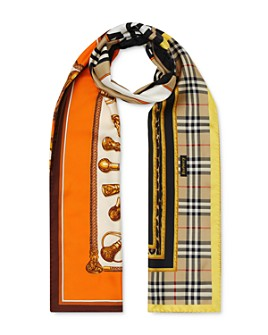 Burberry - Mixed Archive-Print Silk Scarf