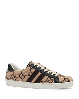 Gucci - Men's Ace GG Wool Lace-Up Sneakers
