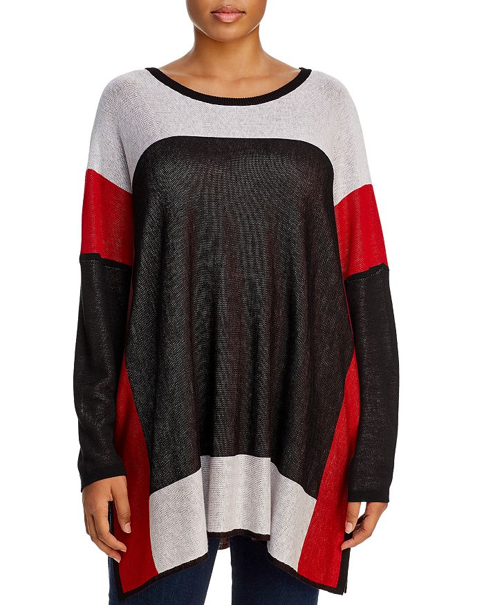 Single Thread Plus - Color-Block Tunic Sweater