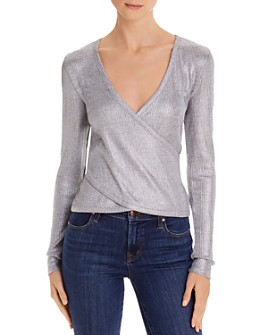 Ramy Brook - Metallic Wrap Sweater - 100% Exclusive