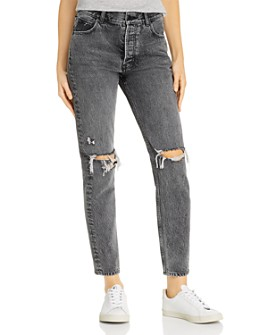 Anine Bing - Brenda Destructed Jeans in Gray